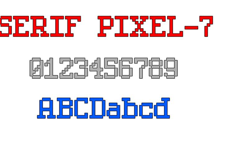 Serif Pixel-7 Font