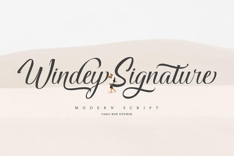 Windey Signature Font