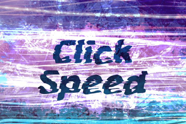 c Click Speed Font