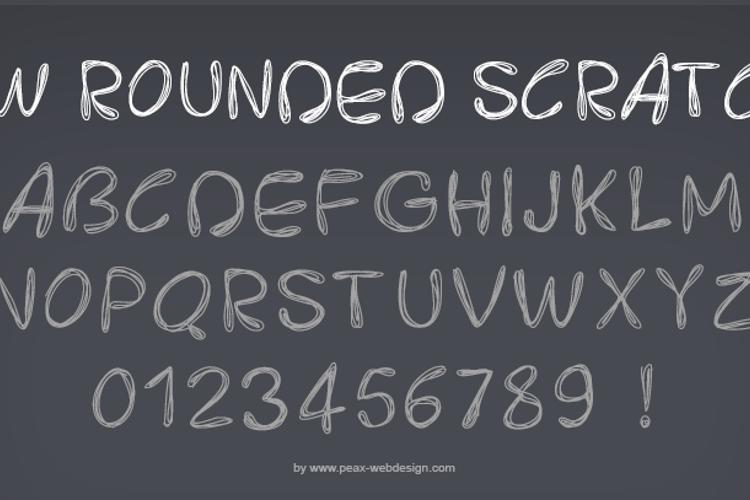 PWRoundedScratch Font