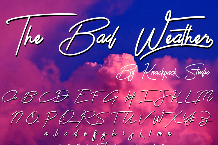 The Bad Weather Demo Font