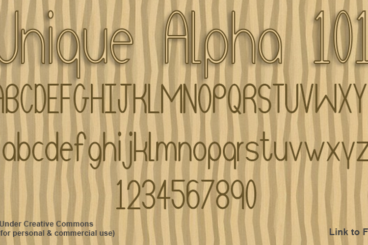 Unique Alpha 101 Font