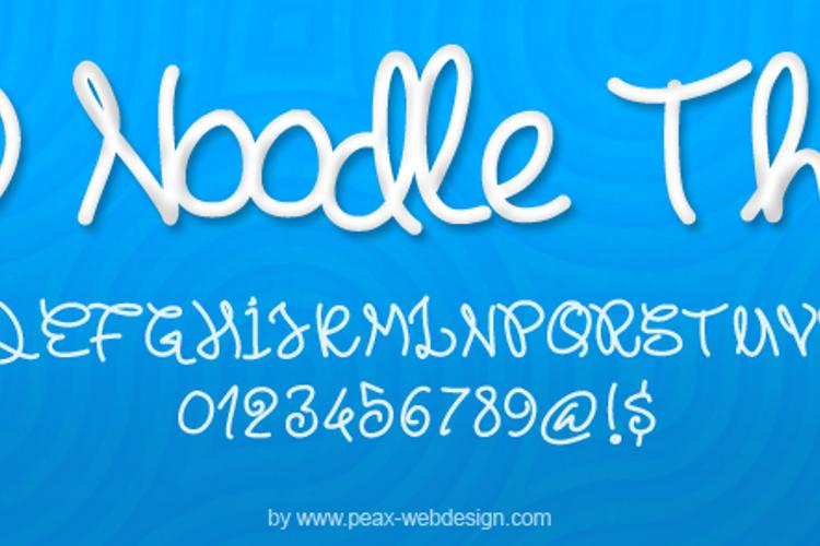 PWNoodleThing Font