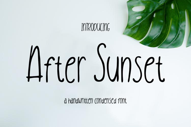 After Sunset Font