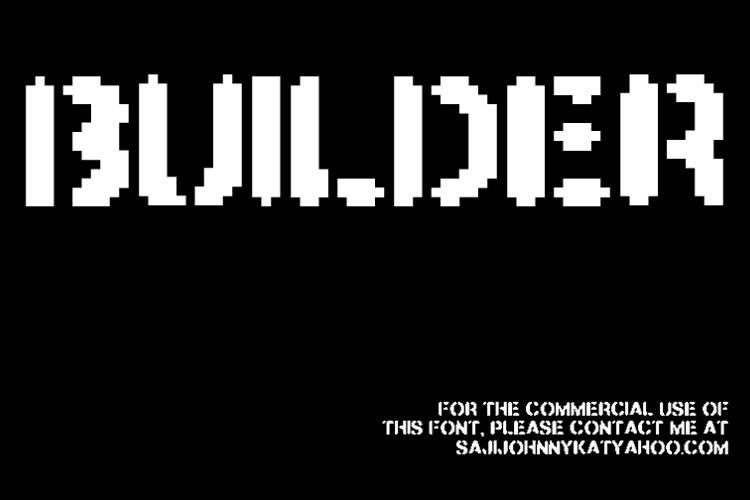 BUILDER Font