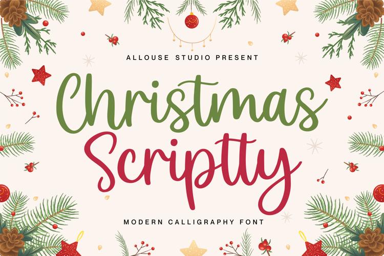 Christmas Scriptty Font