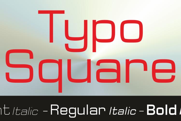 Typo Square Bold Demo Font