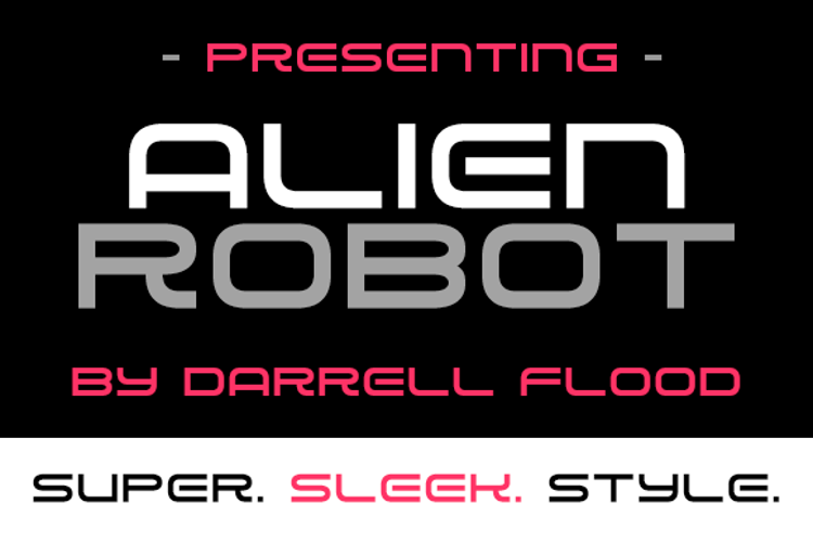 Alien Robot Font