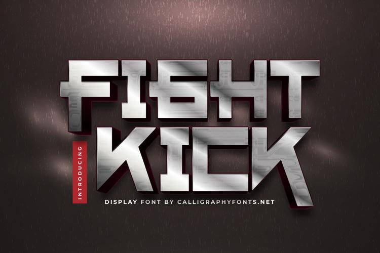 Fight Kick Font