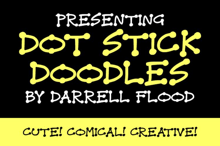 Dot Stick Doodles Font