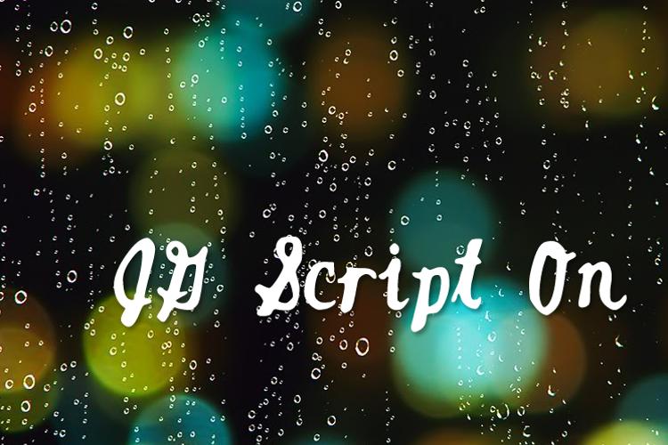 JGScriptOn Font