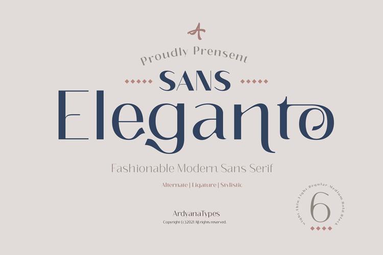 Eleganto Sans Thin Font