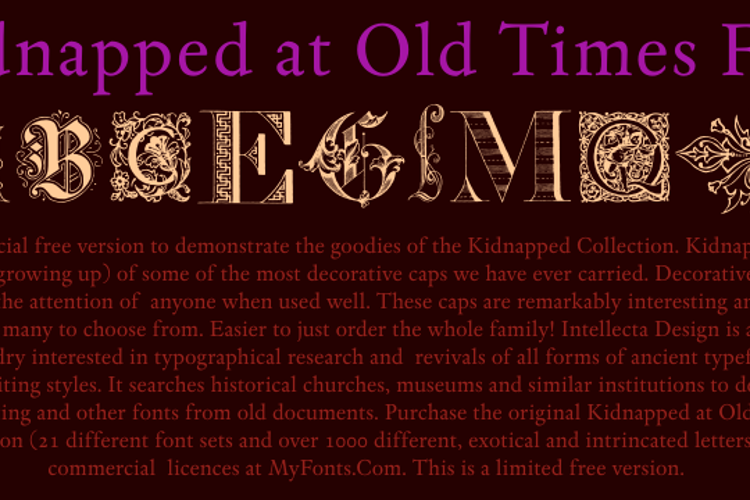 Kidnapped at Old Times Free Font