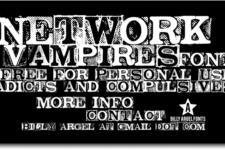 NETWORK VAMPIRES Font