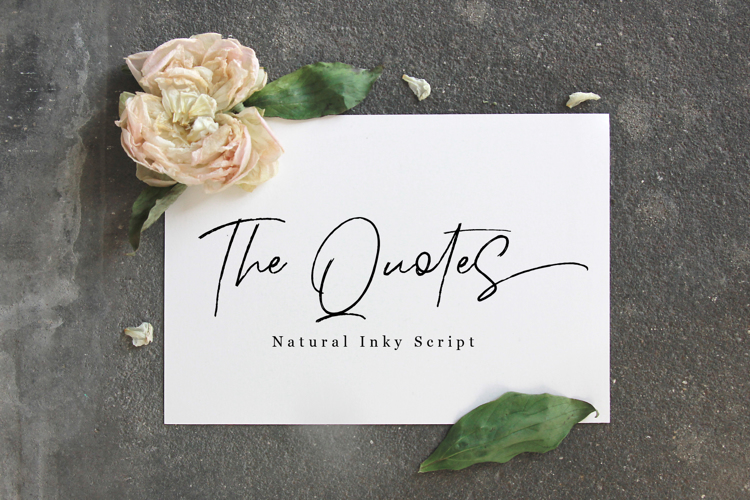 The Quotes Font