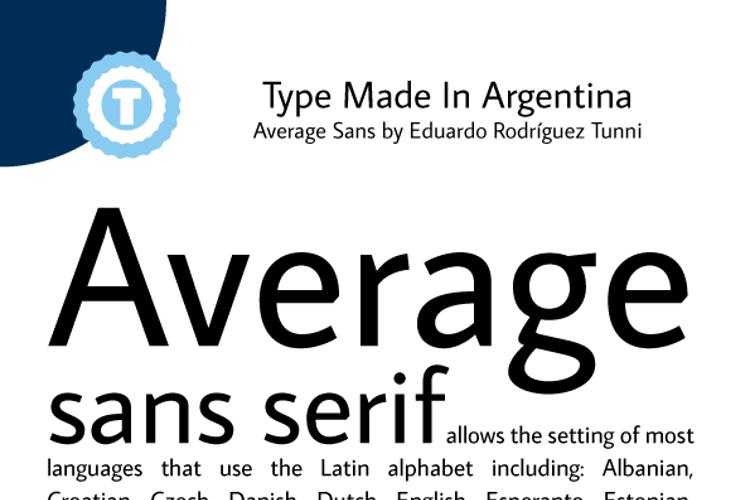 Average Sans Font