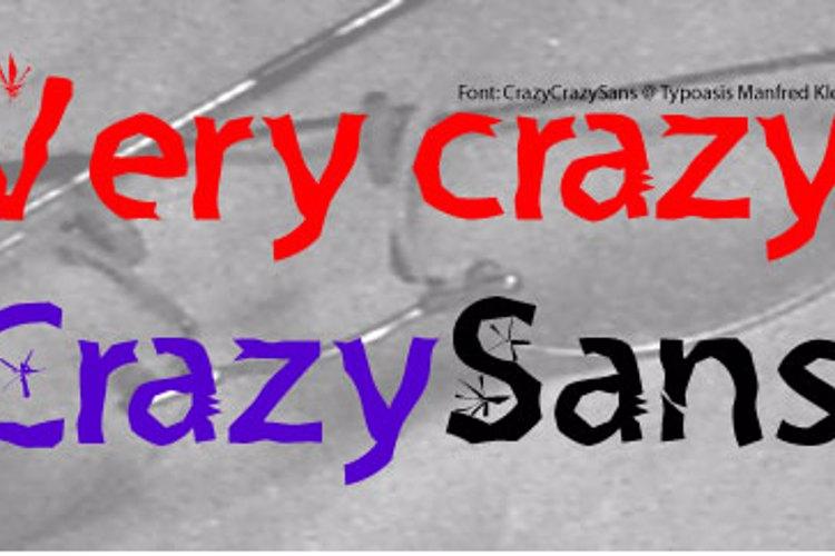 Crazy Crazy Sans Font