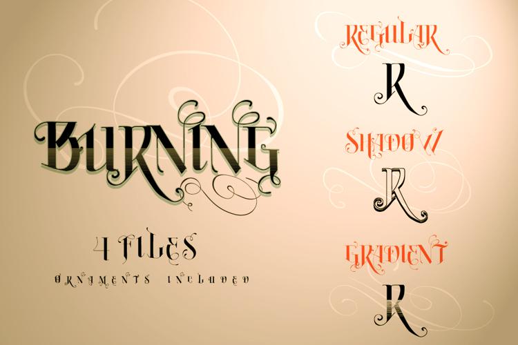 Vtks Burning Font