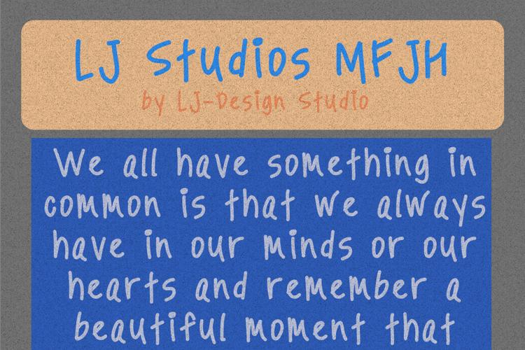 LJ Studios MFJH Font