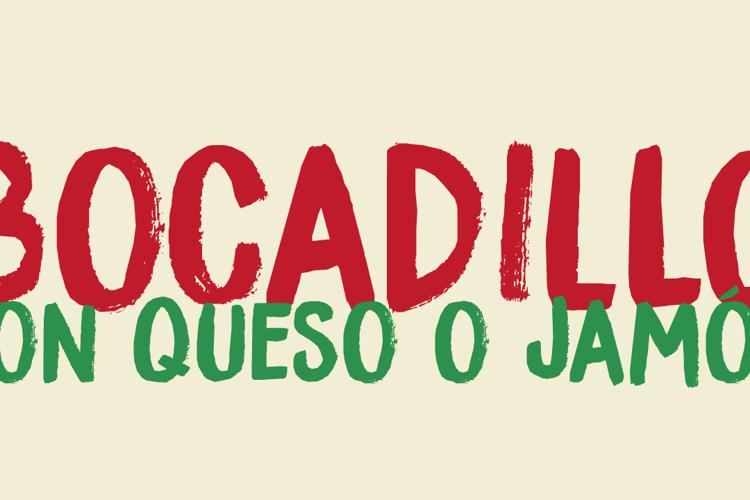 DK Bocadillo Font