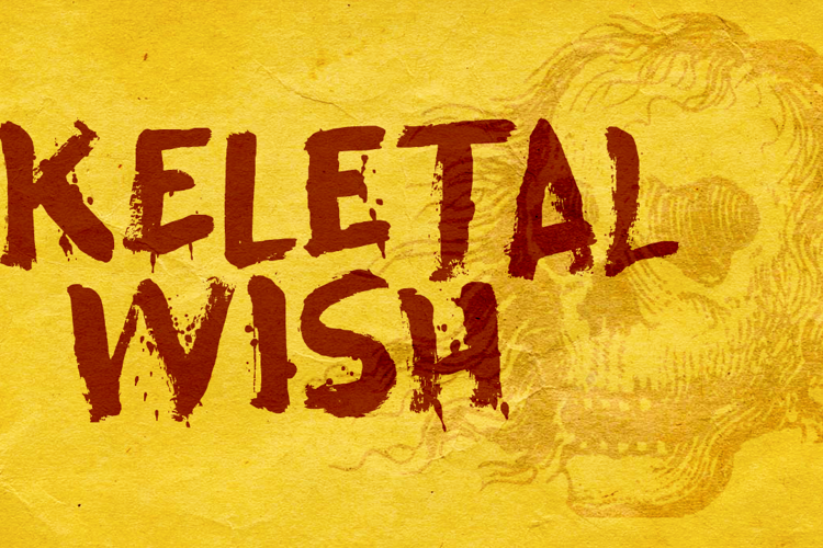Skeletal Wish Font