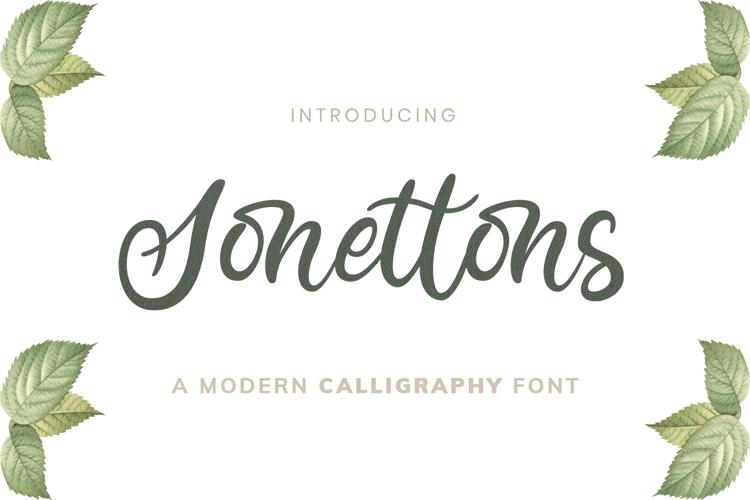 Sonettons Script Font