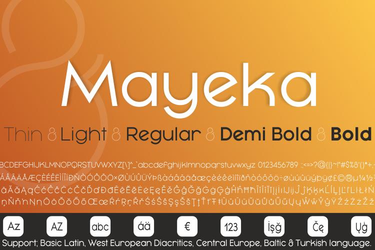 Mayeka Bold Demo Font