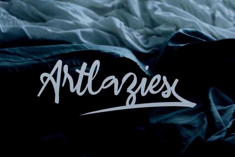 a Artlazies Font