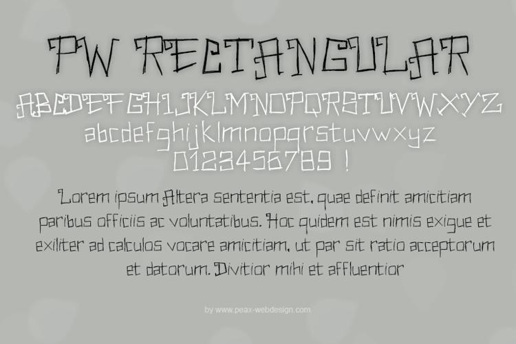 PWRectangular Font