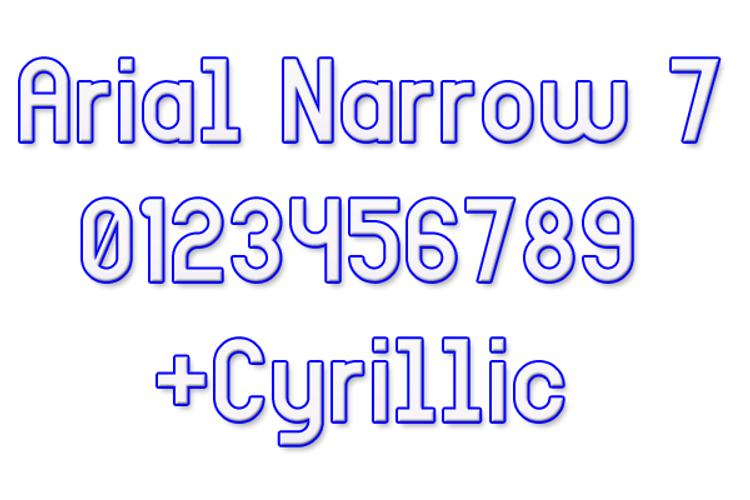 Arial Narrow 7 Font