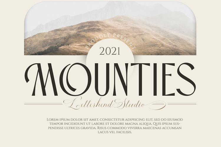 Mounties Font