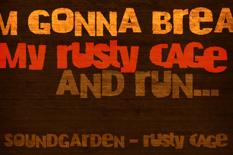 DK Rusty Cage Font