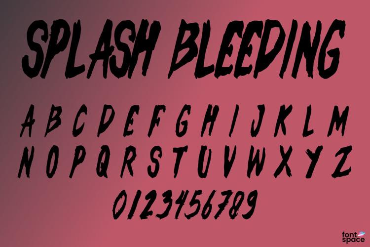 Splash Bleeding Font