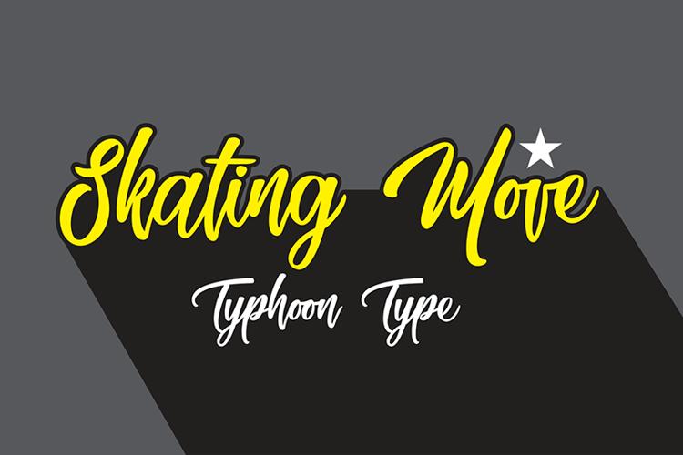 Skating Move Font