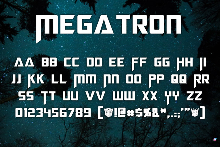 Megatron Font