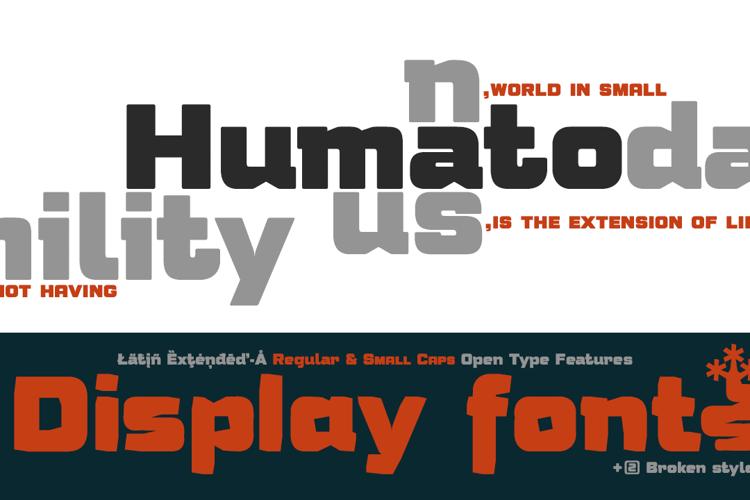 Humato Heavy Font