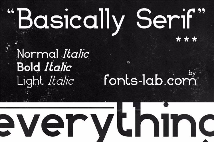Basically Serif Font