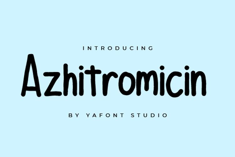 Azhitromicin Font