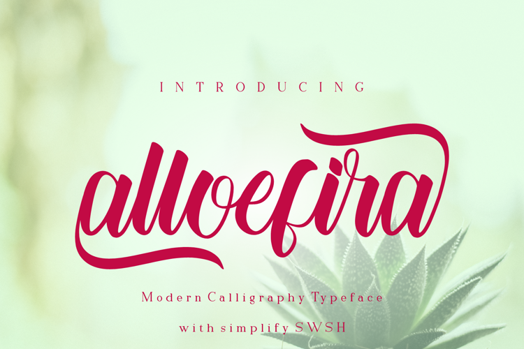 Alloefira free for personal Font
