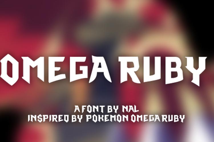 Omega Ruby Font