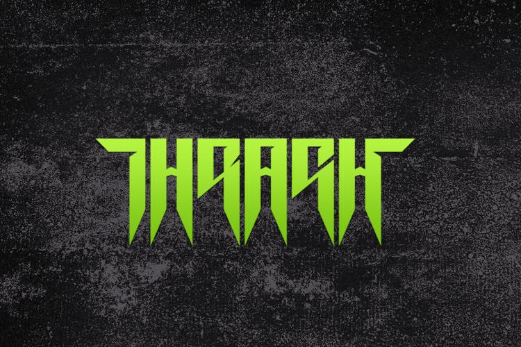 Thrash it Font