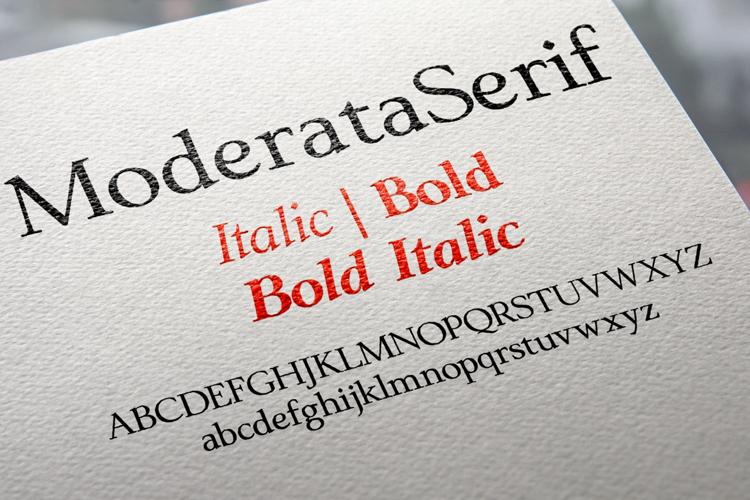 ModerataSerif Font