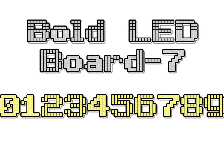 Bold LED Board-7 Font