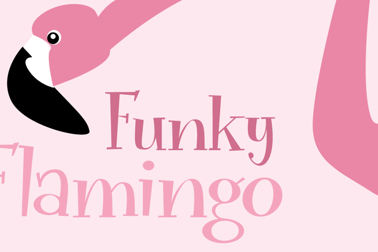 Funky Flamingo DEMO Font