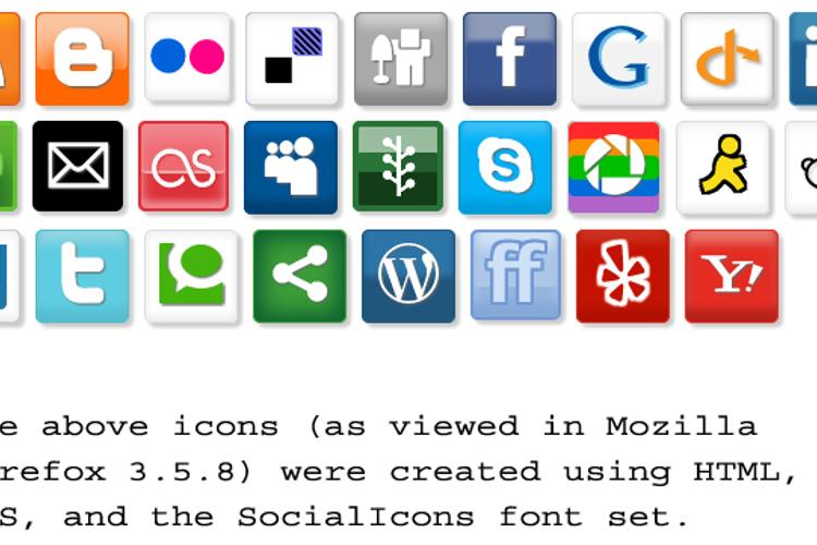 SocialIcons Font