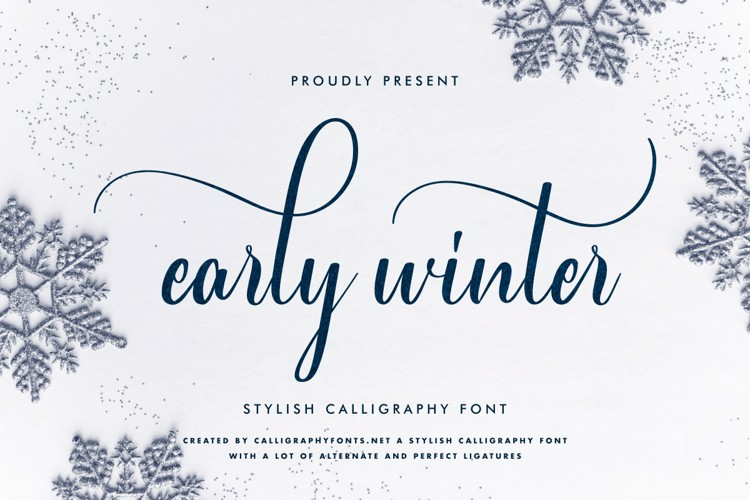 Early Winter Font