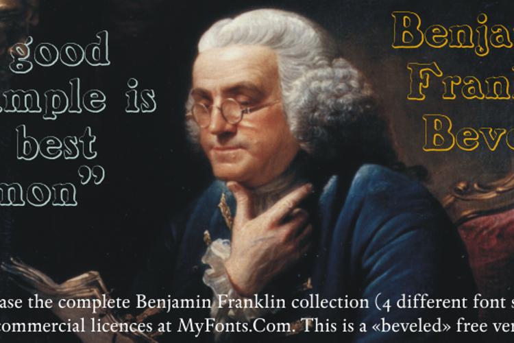 BenjaminFranklin Beveled Font