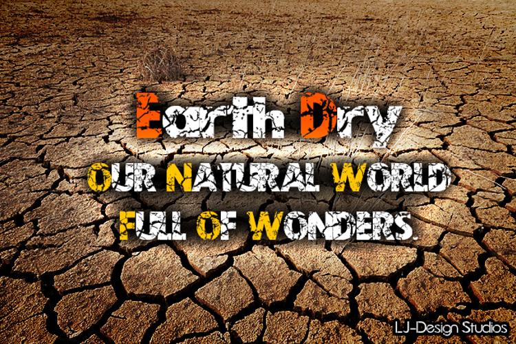 Earth Dry - LJ-Design Studios Font