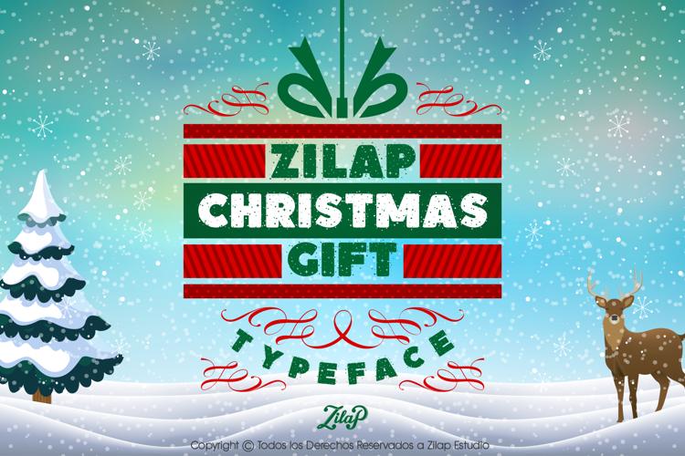 Zilap Christmas Gift Font