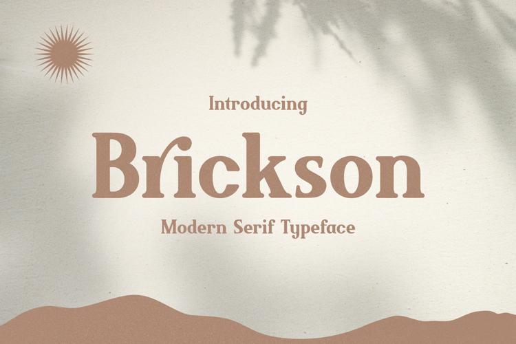 Brickson Font